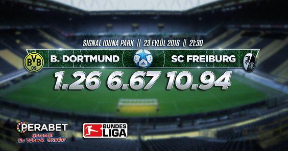 Borussia Dortmund – Freiburg  Bugün:21.30 http://perabet50.com