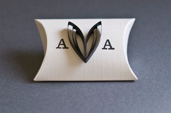 Black and White Wedding Favor Box with the Personal by Pierrepont, $1.35