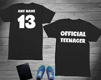 Teenager Birthday Shirt 13 Year Old Girl Official 2005 13th For Boy Celebration