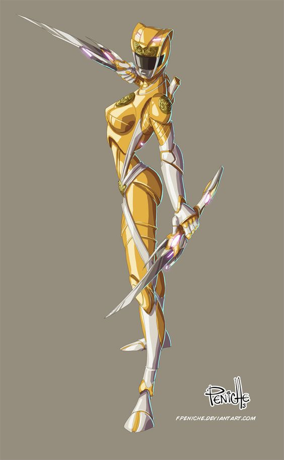 yellow ranger by Fpeniche on deviantART