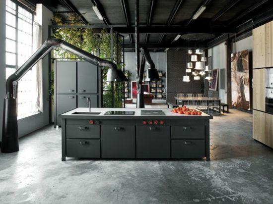 Kochinsel schwarz helle Esstisch Ideen Houses Pinterest - esszimmer italienisch