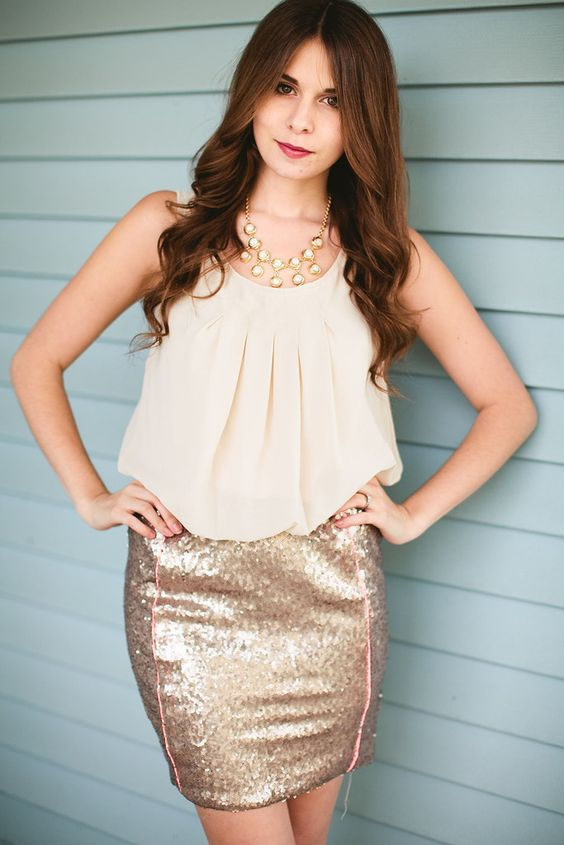Sequin Skirt Colorblock Dress – Pink Slip Boutique