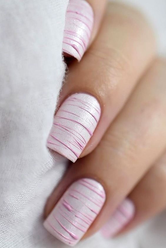 Cute Nail Design Ideas For Stylish Brides ❤ See more: http://www.weddingforward.com/nail-design/ #weddingforward #bride #bridal #wedding #WeddingNails