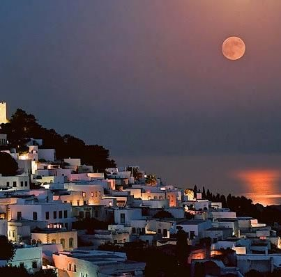 Patmos.The island where Apostle John wrote the Book of Revelation.Exquisite Monastery with the cave where John retreated. Picturesque chora, pretty beaches mystifying and artistic ambience. Dodecanese Islands, Greece