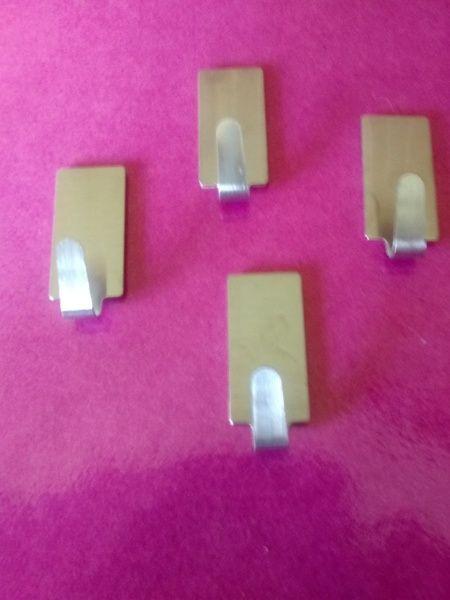 Set of 4 Brand New Stainless Steel Hooks