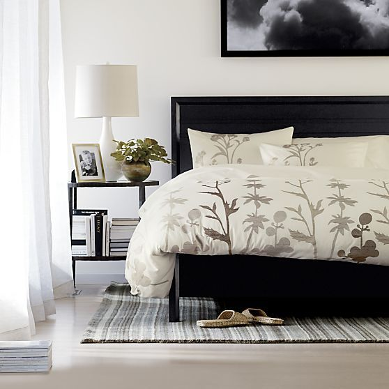Woodland natural duvet covers and pillow shams bed for Crate barrel comforter