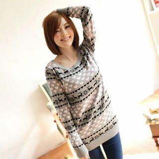 'Tokyo Fashion – Patterned Long Sweater' YesStyle.com