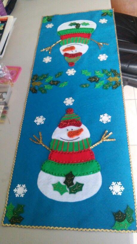 Camino de mesa navide o hecho a mano pinterest mesas - Centros de mesa navidenos hechos a mano ...