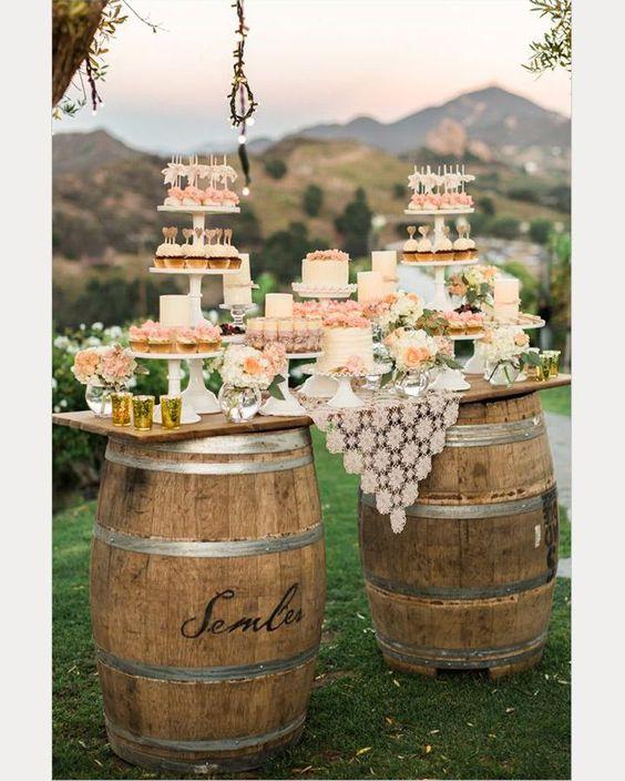 table desserts mariage rustique