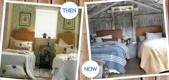 Then vs. Now: Twin Beds in a Guest Bedroom