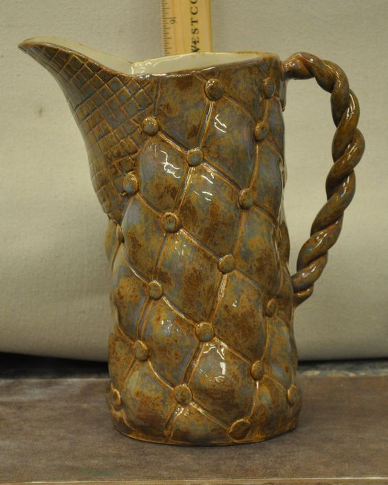 hand built stoneware pitcher $55.00 Email for more information