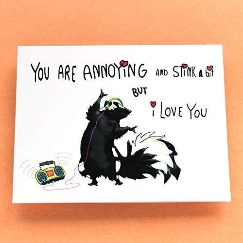 Funny Valentine S Day Card I Love You Pun Card Funny Love Card You Are Annoying But I Love You Happy Lit Funny Love Cards I Love You Puns Funny Valentine