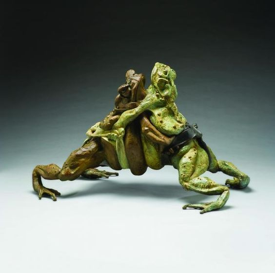 Sumo Toads by Steve Worthington. I saw this sculpture in Manitou Gallery in Santa Fe NM. Very cool