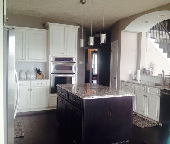 White And Espresso Kitchen Cabinets. Classic Modern