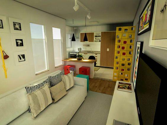 Decorar Uma Sala Pequena E Simples ~  sala pequena estreita salas imagens sala pequeno salas estreitas