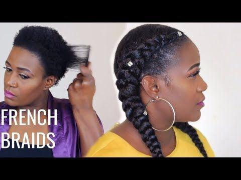 Her Natural Given Hair Feed In Braids Hairstyles Natural Hair