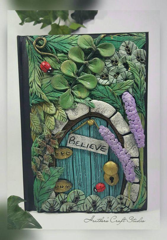 Fairy door journal notebook nature fairy door forest for Secret fairy doors by blingderella