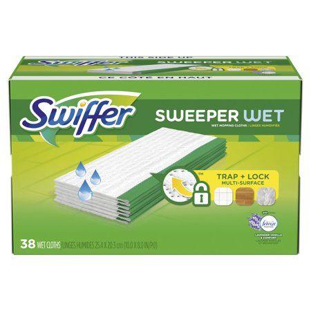 Swiffer Sweeper Wet Pad Refills Lavender Vanilla Comfort 38 Ct Walmart Com Swiffer Cleaning Wipes Disinfecting Wipes