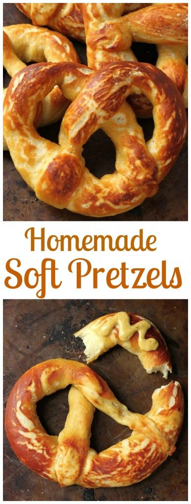 Perfect Soft Pretzels - Soft and chewy homemade pretzels! These are a ...