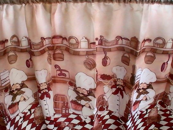 Fat Chefs Bistro Kitchen Cafe Curtains JCPenney Curtains & Drapes ...