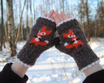 Foxy mitts by FoxyChest on Etsy