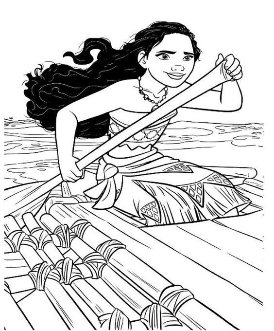 Coloriage Vaiana gratuit à imprimer viana moana
