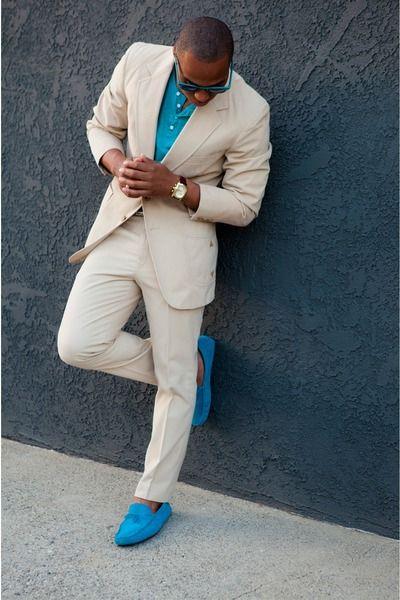 Mens Blue Suede Shoes