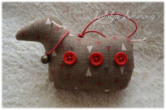 Наталия Семенова. Овечки в стиле Кантри, символ 2015 года, талисман 2015 год - овечка, овечка игрушка