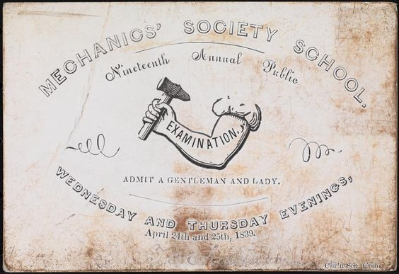 Mechanics' Society School. Nineteenth Annual Public Wednesday and Thursday Evenings