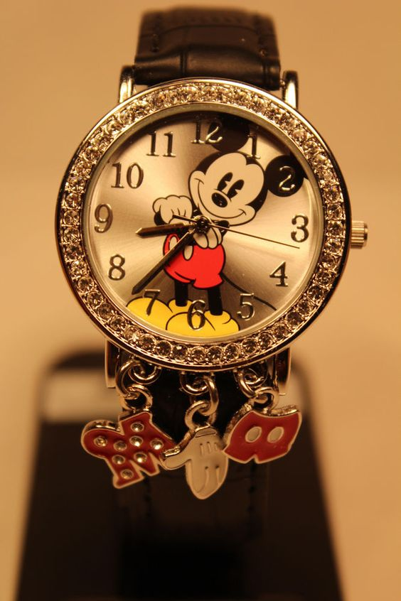 Disney Mickey mouse leather band ladies watch. new/warranty + FREE GIFT #Disney #Casual