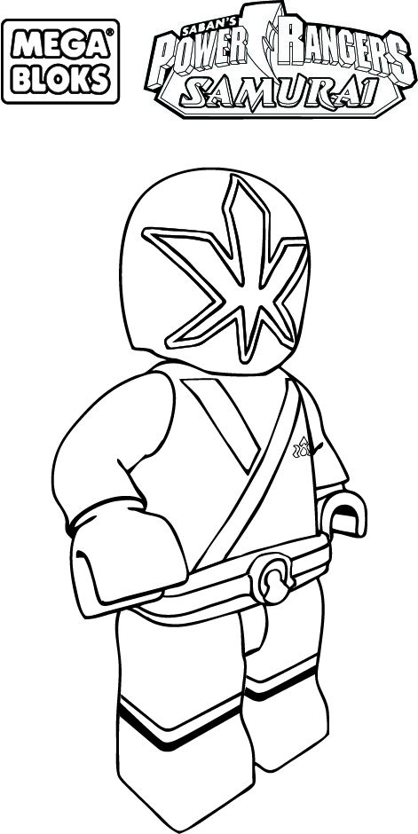 lego power rangers samurai coloring pages  1