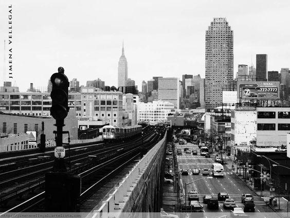Queens New York Queens Blvd New York Black White Pinterest York Queens New York And