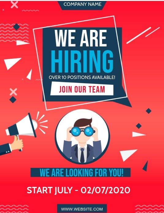 We Are Hiring Flyer Ad Template We Are Hiring Marketing Poster Job Ads