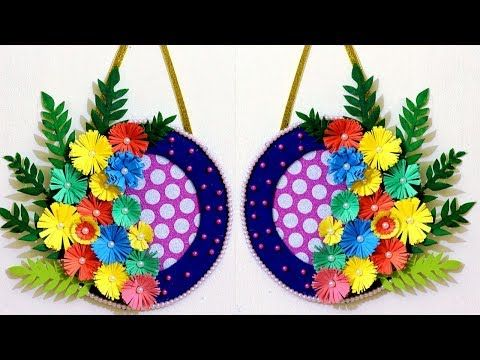 How To Make A Paper Flower Wall Hanging Easy Wall Decoration Ideas Diy Room Decoration Ideas Youtube Paper Flower Wall Hanging Flower Wall Paper Flowers