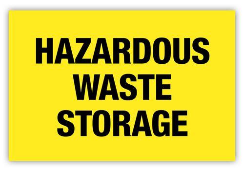 Hazardous Waste Storage Label Storage Labels Hazardous Waste Storage