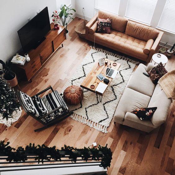 Trang trí phòng khách với sofa da TPHCM sau tết