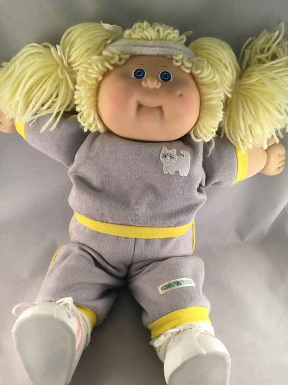 Vintage Cabbage Patch Doll 1980s Xavier Roberts Signed Blonde Hair Blue