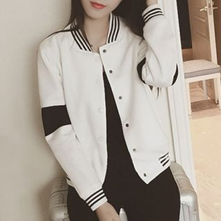 Buy 'MayFair – Contrast Trim Baseball Jacket ' with Free International Shipping at YesStyle.com. Browse and shop for thousands of Asian fashion items from China and more!