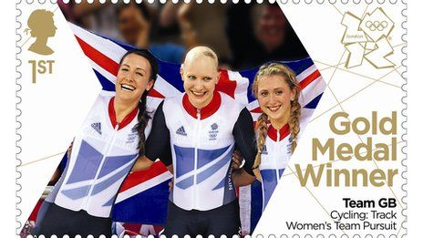 The woman's team pursuit gold medallists also clocked a new world record