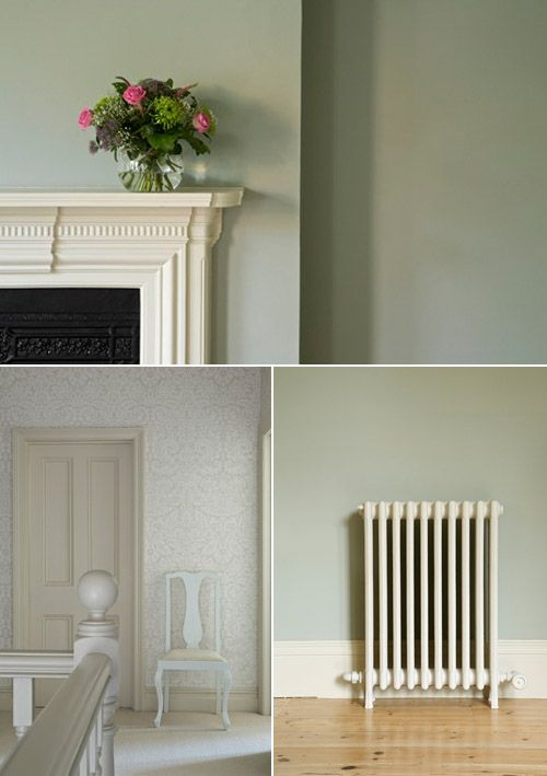 Farrow ball paint samples up on the wall the colors look totally different in the space then - Farrow and ball exterior paint colors model ...