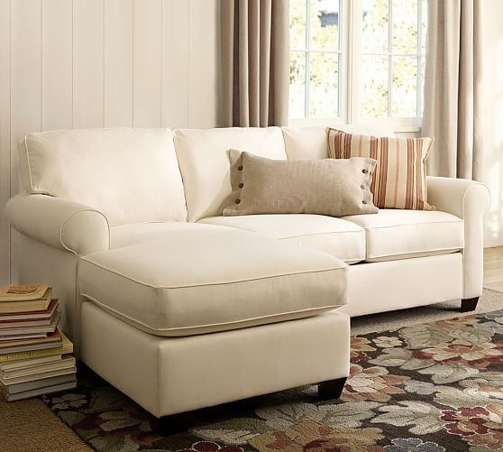 Buchanan Roll Arm Upholstered Sofa With Reversible Chaise Sectional Sectional Sofa With Chaise Small Sectional Sofa Couch With Chaise