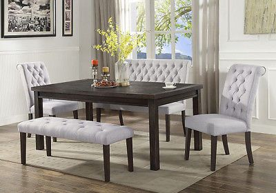 39+ Dining room table with high back bench Trend