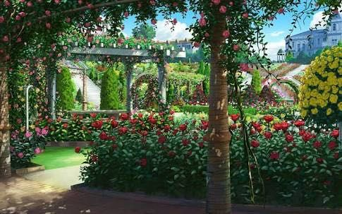 Diabolik Lovers Forever Together Chapter 6 Nature S Pretty Anime Scenery Episode Interactive Backgrounds Anime Background Anime castle garden background night
