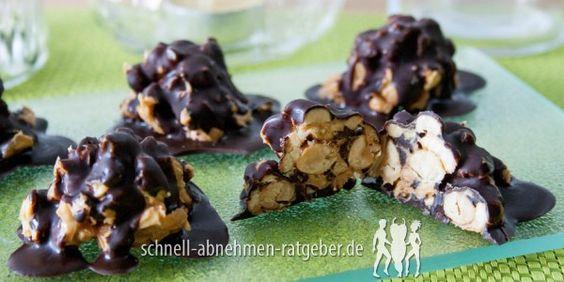Erdnussberge mit Schokolade