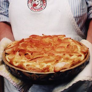 Apple Clafouti--sounds YUMMY and will need to be made to use up some of our apples from when we went apple picking :)