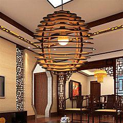 12W Lampe suspendue ,  Rétro Autres Fonctionnalité for LED Bois/BambouSalle de séjour / Chambre à coucher / Salle à manger /