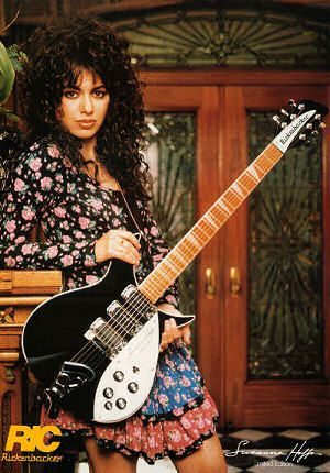 """Susanna Hoffs (Bangles).  Led by singer-guitarist Susanna Hoffs, the all-female band became synonymous with the '80s thank to songs such as """"Manic Monday"""" and """"Walk Like an Egyptian."""""""