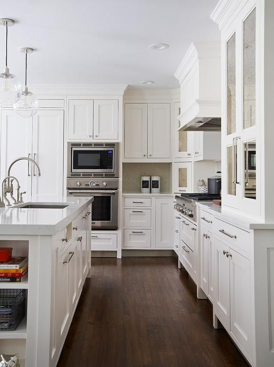 Lattices cookbook shelf and transitional kitchen on pinterest for Atrium white kitchen cabinets