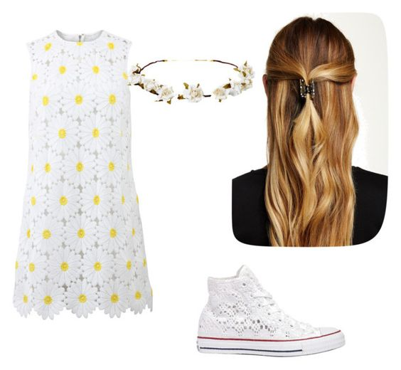 """Daisy"" by rylee-eilerts ❤ liked on Polyvore featuring Dolce&Gabbana, Converse, Natasha Accessories, Cult Gaia, women's clothing, women's fashion, women, female, woman and misses"