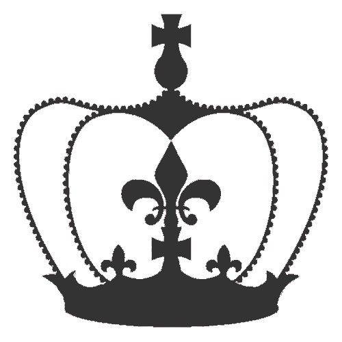 Vintage French Stencils | Royal Crown Wall stencil ...